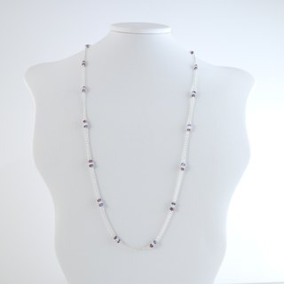 [] ColorDay stroll Lyon ~ Tanzanite _ _ Garnet Moonstone <Tanzanite_Moon Stone_Garnet> 2 with silver necklace + bracelet