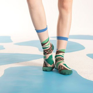 Wild Fields Green Sheer Socks | transparent see-through socks | colorful socks