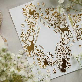 3 cm hot stamping tape - Forest Animal revision