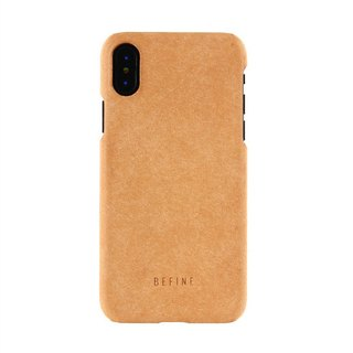 BEFINE iPhone X Dedicated GEMINI Leather Case - Light Brown (8809402594382)