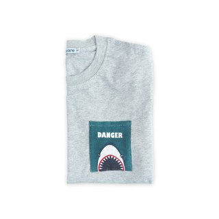 Dosquare - Cotton Gray T-shirt with Pocket (Shark)