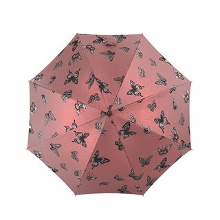 [Germany] Kobold Anti-UV - Red Dot Designer - Elegant Butterfly - Full Maple Handle - Classic Umbrella - Straight Umbrella - Red