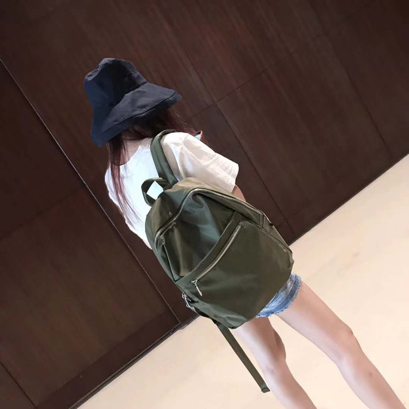 Fashion / Simple / Leisure / Campus / Backpack / Backpack Computer Travel Bag Five Colors Available-Army Green