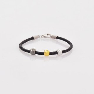 [Wonderland] Tulip Bead Bracelet - Black Yellow White
