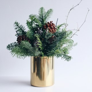 Xmas Special! [Forest of the Forest - Pan] Christmas Potted Flower Dry Flower Arrangement Christmas