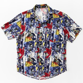 Japanese-style Zephyr Shirt Ghost with Jamaica's Blue Vintage Vintage