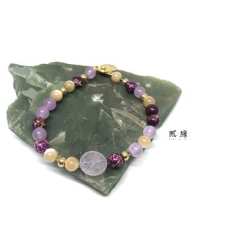 Mini peace of love bracelet jade crystal amethyst donut