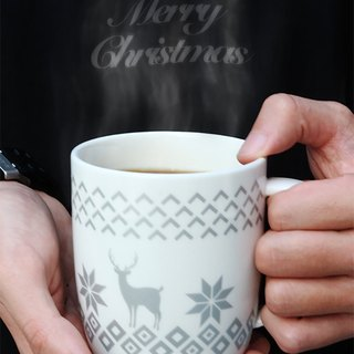 Christmas mug -Silver Deer  Available in 5 designs