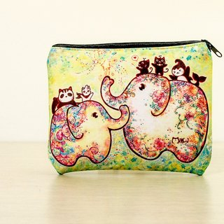 Good meow-purpose bag / purse / Storage bag - Elephant flowering