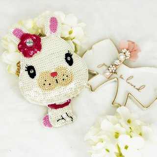 Coin Bag + Hair Clip Special Promotion Set (White)