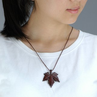 Wooden Maple leaf necklace Wood Pendant