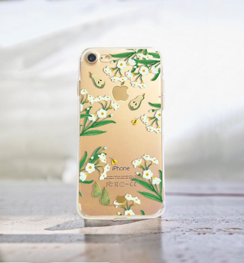 Flowers phone case Clear iphone se case Samsung a5 case LG g5 case Galaxy s8