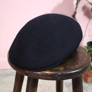 Vintage hat (Italian standard) Flat Cap navy 100% Made in Italy (Valentine's Day gift)