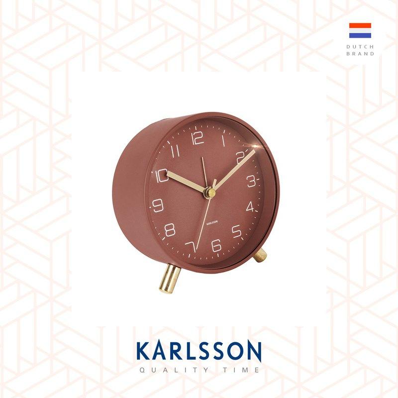 荷蘭Karlsson, Alarm clock Lofty matt red (帶小夜燈功能)