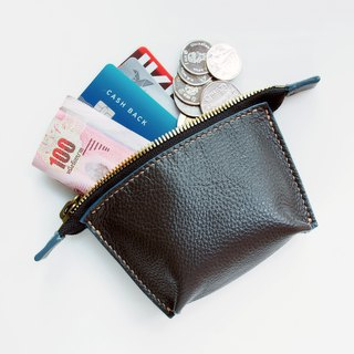 Soft Leather mini zip pouch, coin pouch, accessory pouch