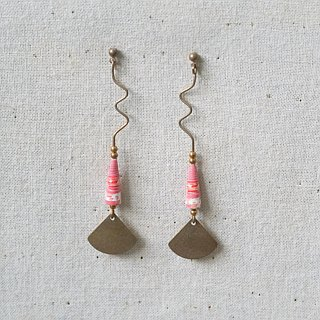 MUSEV special shape long drop paper beads earrings