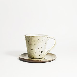 Retro hand-picked terracotta mini espresso coffee cup - matt white