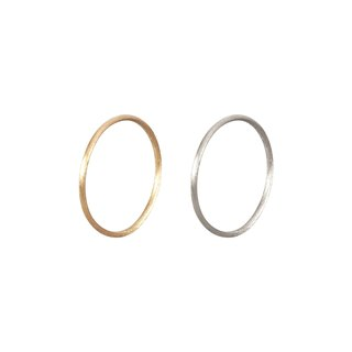 Pure silver matte finish (18k gold plated) (Purchase multiple customizable multiple rings)
