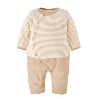 [SISSO organic cotton] striped air cotton two-in-one rabbit 3M 6M