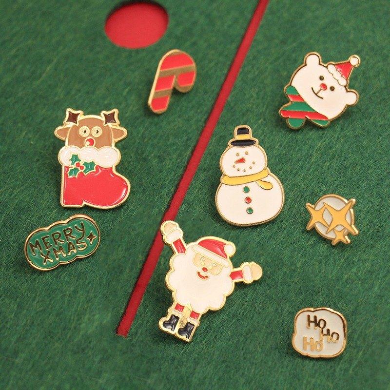 UPICK原品生活 可愛聖誕系列領針小動物胸針