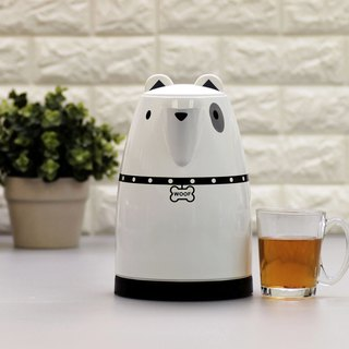 Animal series 1.7L Cordless Electric Water Kettle - White Dog