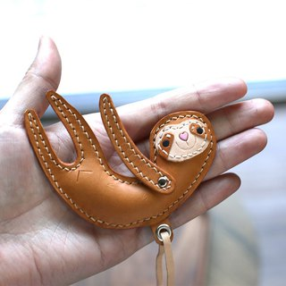 澎澎舒pressure sloth / tree 獭 handmade leather strap