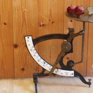 Good day fetish Germany VINTAGE low profile simple fine carved scale / enamel / iron / copper
