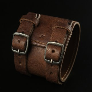 HEYOU Handmade - Leather Cuff leather bracelet (dark coffee)