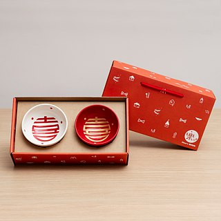 [Limited] Dot double 囍 soy sauce dish Pengpai group
