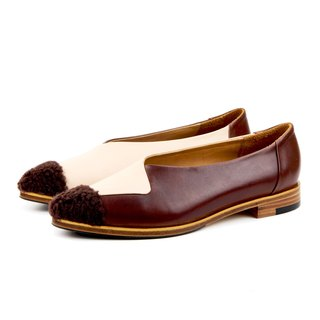 HardShape W1058 PinkBrown round-point toe flats