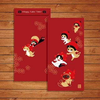 Meow new year red envelope bag 5 into / wonderful card