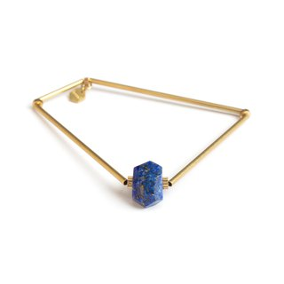 Polygon lapis lazurite polygon bangle