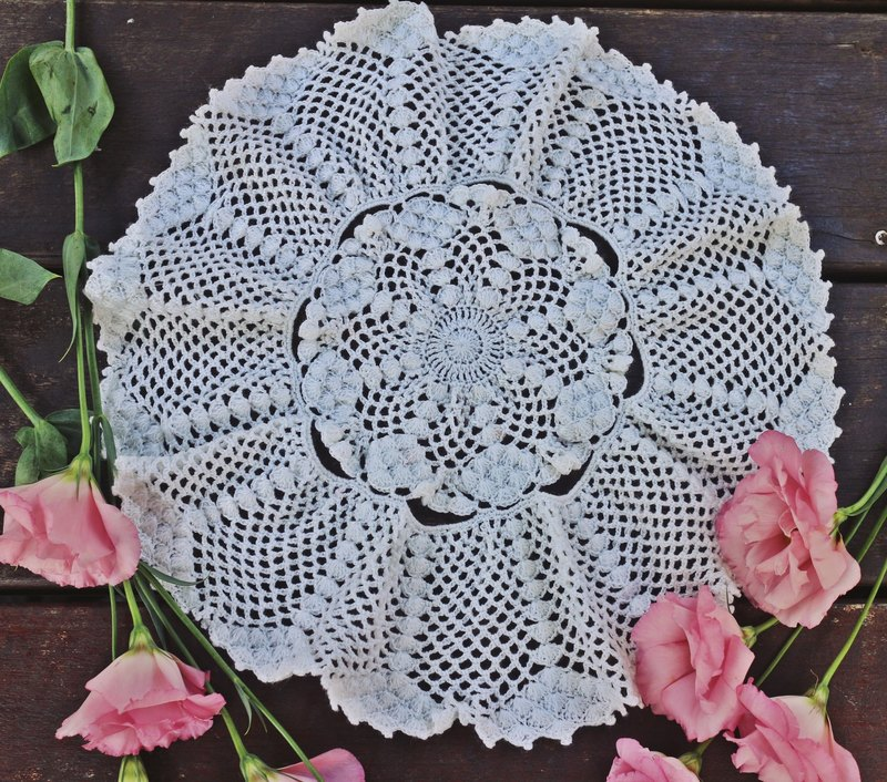 Hand made - Lace milky waves pad.