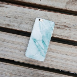 Original Gem Green Marble iPhone Samsung Cell Phone Case Hard Shell Clear Soft Edge