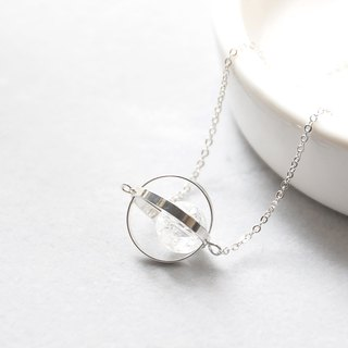 armei 銀環。白水晶。純潔星球。宇宙 項鍊 Sliver Ring。Crystal。Pure Planet。Galaxy Necklace