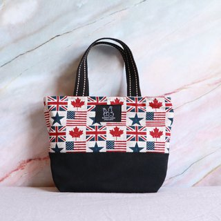 Flag printed lightweight handbag