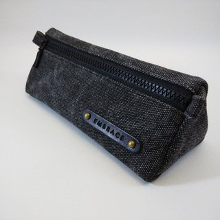 Christmas Exchange Gift Manual Limited Dark Gray Washed Thick Canvas Pencil Bag Storage Bag/Free Customized Branding