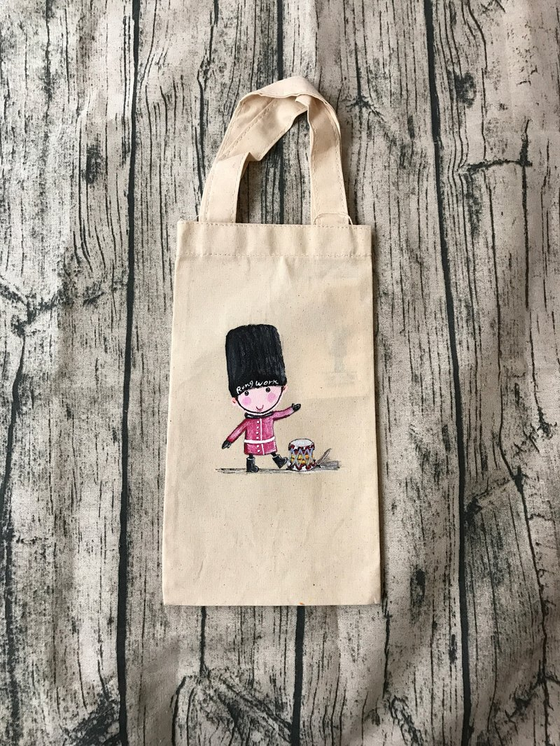 |Hand-painted|Canvas|Environmental|Beverage bag|Insulation bottle|Boute bottle