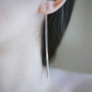 Minimalist temperament silver plated 18K gold ear wire