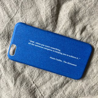 Cosmic/hard shell/text phone case