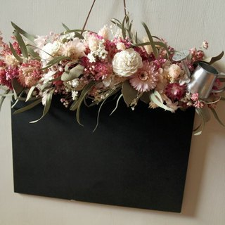 Dry flower blackboard opening flower ceremony, not writing store
