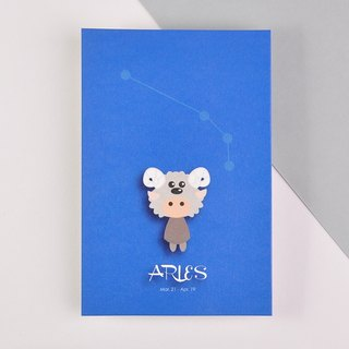 The 12 constellations character birthday card and postcard - Aries