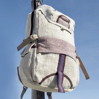 Christmas gift exchange gifts emergency gift limited a piece of cotton stitching design backpack / shoulder bag / mountaineering bag / travel bag / computer bag - Passion red natural color backpack