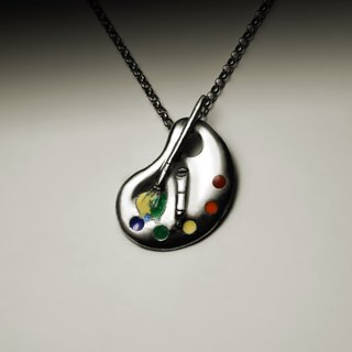 珐琅 palette necklace