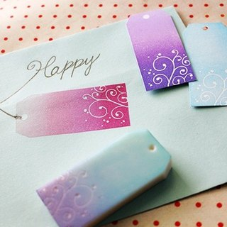Apu handmade chapter practical chic curly flower tag seal stamp