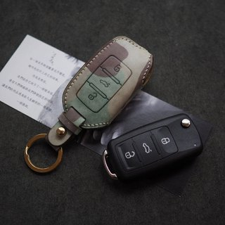 Foss car key set Italy imported vegetable tanned cowhide leather handmade leather design customized multi-color optional