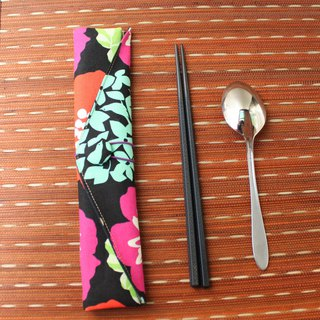 Adoubao-Chopsticks set package - black & wind big flower (贰)