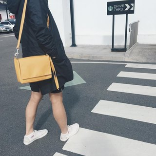 color_D lightweight small yellow bag side backpack will be convenient to wear a shoulder bag lightweight