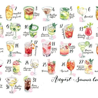 Sticker Set - Summer Cocktail (31 pieces)
