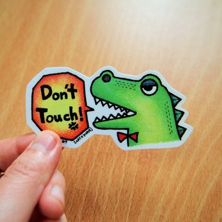 Waterproof stickers --- hands away !!! (Small)